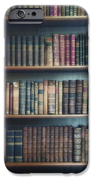 Bookcase iPhone Cases - Bookshelf iPhone Case by Joana Kruse