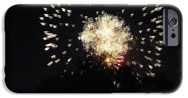 Fireworks iPhone Cases - Boom iPhone Case by Lizbeth Hinshaw-Kurtz