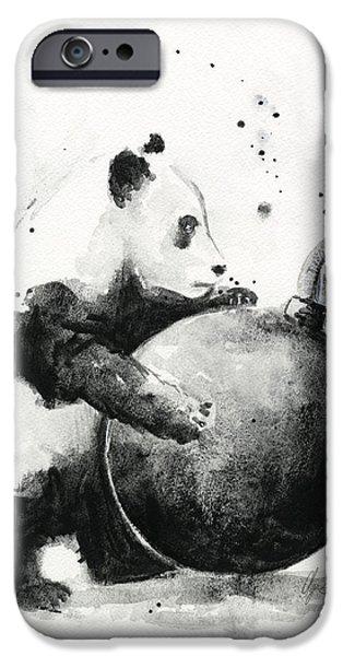 Boom iPhone Cases - Boom Panda iPhone Case by Olga Shvartsur