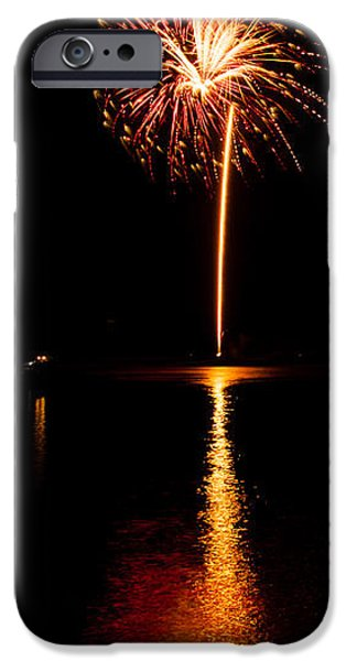 Fourth Of July iPhone Cases - Boom Rockets iPhone Case by Chad Cooper