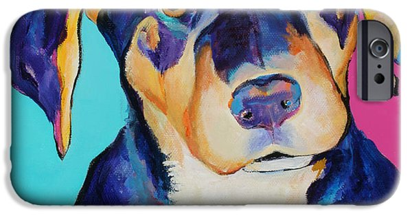 Rottweiler Puppy iPhone Cases - Boone iPhone Case by Pat Saunders-White