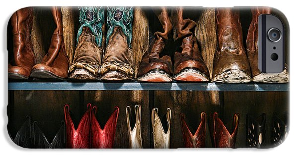 Authentic iPhone Cases - Boot Rack iPhone Case by Olivier Le Queinec