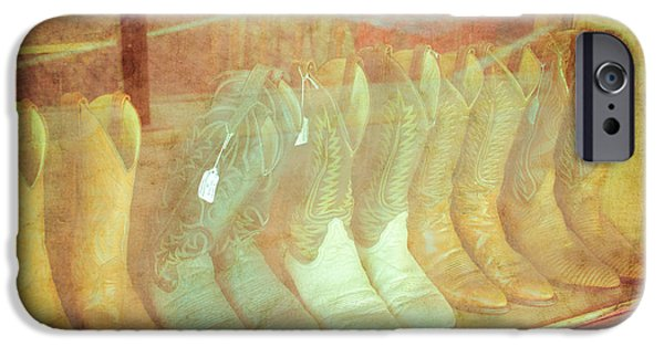 Worn Leather iPhone Cases - Boot Scoot Line iPhone Case by Sonja Quintero