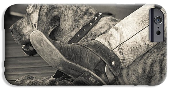 Work Tool iPhone Cases - Boot Scootin iPhone Case by Steven Bateson