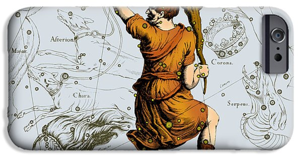 Constellations iPhone Cases - Bootes Constellation, 1687 iPhone Case by Science Source