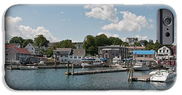 Maine Seacoast iPhone Cases - Boothbay Harbor 1242 iPhone Case by Guy Whiteley