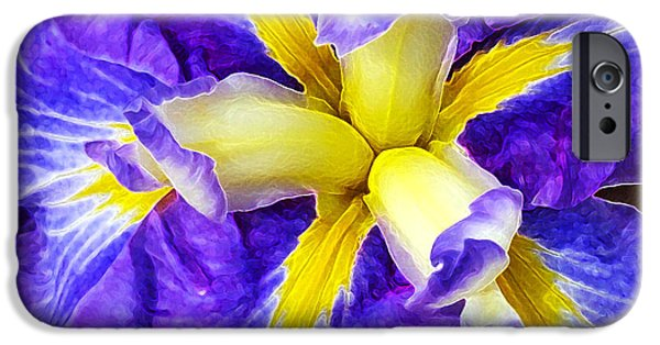 Floral Digital Art Digital Art iPhone Cases - Boothbay Violet iPhone Case by Bill Caldwell -        ABeautifulSky Photography
