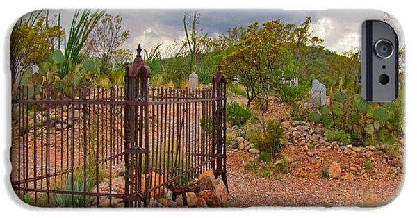 Cemetary iPhone Cases - Boothill Cemetary Image iPhone Case by John Malone