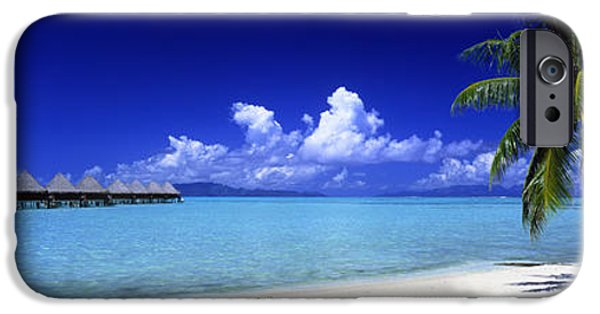 Hut iPhone Cases - Bora Bora South Pacific iPhone Case by Panoramic Images