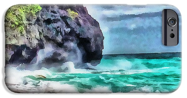 Fantastic Gifts iPhone Cases - Boracay Puka Beach 1 iPhone Case by Yury Malkov