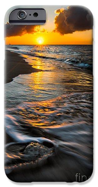 Sun Rays Digital Art iPhone Cases - Boracay Sunset iPhone Case by Adrian Evans