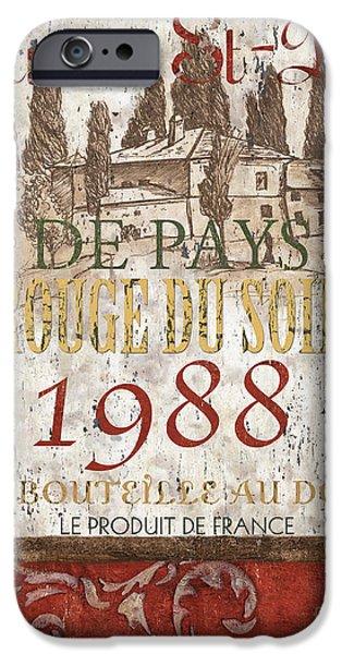 Bordeaux Blanc Label 1 iPhone Case by Debbie DeWitt