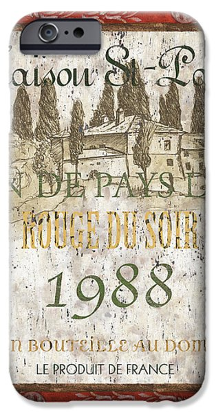 Tuscan Landscapes iPhone Cases - Bordeaux Rouge 1 iPhone Case by Debbie DeWitt