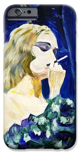 Prostitutes Paintings iPhone Cases - Bordello Blues iPhone Case by Rex Maurice Oppenheimer