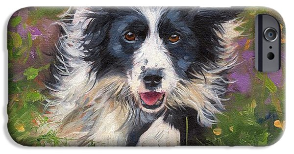 Border iPhone Cases - Border Collie iPhone Case by David Stribbling