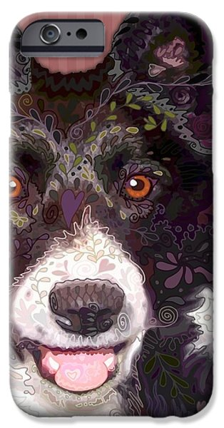 Border Collie iPhone Case by Sharon Marcella Marston
