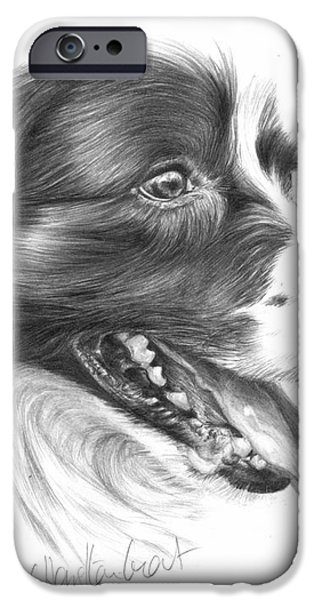 Border Grin iPhone Case by Sheona Hamilton-Grant