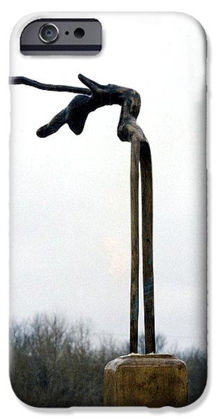 Freedom Sculptures iPhone Cases - Born Free 2 iPhone Case by Vincent Von Frese