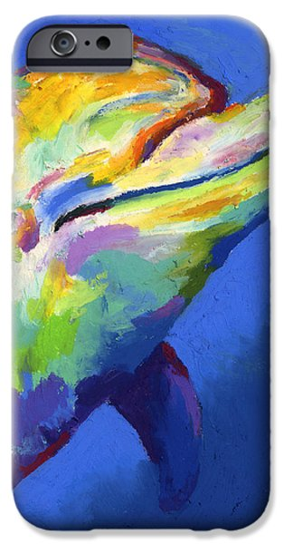 Porpoise iPhone Cases - Born To Live Wild II iPhone Case by Stephen Anderson