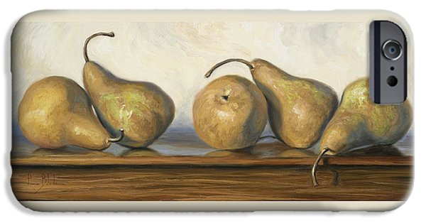 """indoor"" Still Life Paintings iPhone Cases - Bosc Pears iPhone Case by Lucie Bilodeau"