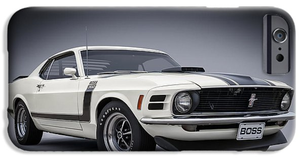 Ford Mustang iPhone Cases - Boss iPhone Case by Douglas Pittman