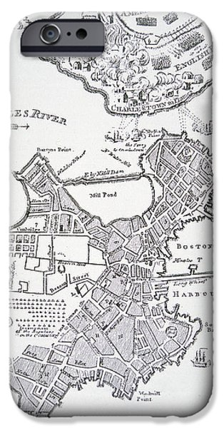 Boston and Bunker Hill 1781 iPhone Case by American School