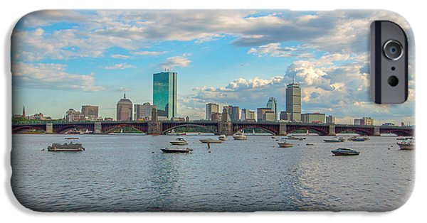 City. Boston iPhone Cases - Boston and Clouds iPhone Case by Brian MacLean