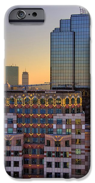 City. Boston iPhone Cases - Boston Architecture Reflections iPhone Case by Joann Vitali