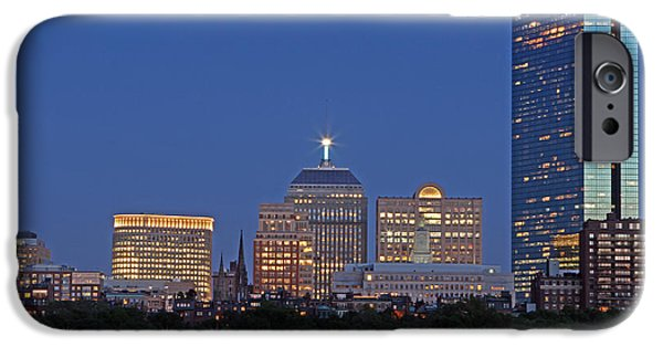 Charles River iPhone Cases - Boston Berkeley Building iPhone Case by Juergen Roth