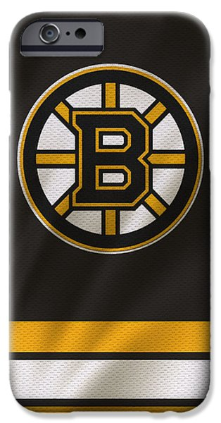 Boston iPhone Cases - Boston Bruins Uniform iPhone Case by Joe Hamilton