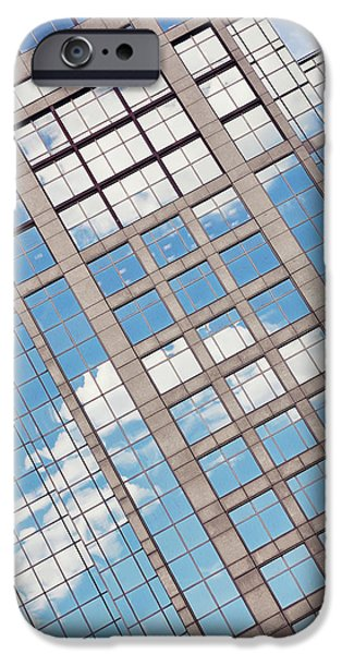 City. Boston iPhone Cases - Boston Building Abstract iPhone Case by Marianne Campolongo