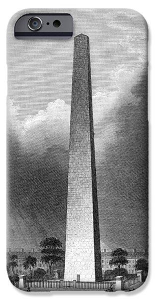 American Revolution iPhone Cases - Boston: Bunker Hill iPhone Case by Granger