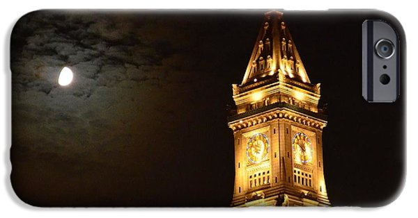 Boston Ma iPhone Cases - Boston by Night iPhone Case by Anne Clark