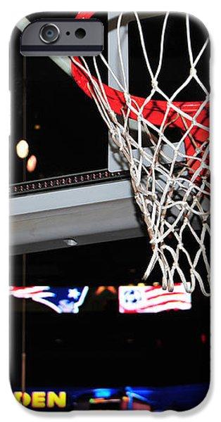 Boston Celtics' Basket iPhone Case by Mike Martin