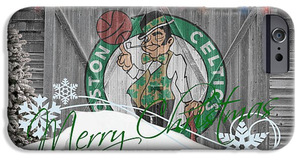 Dunk iPhone Cases - Boston Celtics iPhone Case by Joe Hamilton