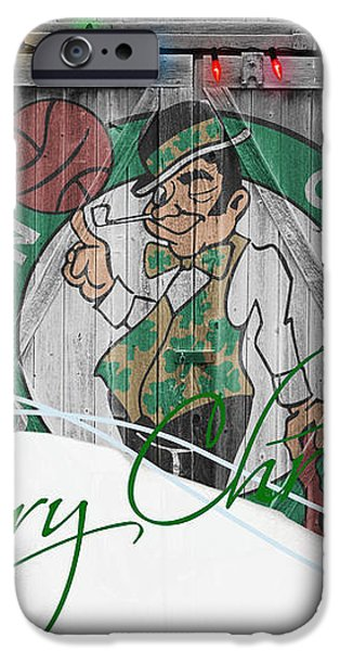BOSTON CELTICS iPhone Case by Joe Hamilton