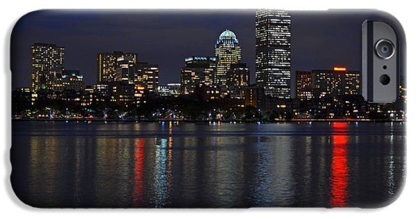 Oxford. Oxford Ma. Massachusetts iPhone Cases - Boston Charles River at Night iPhone Case by Toby McGuire