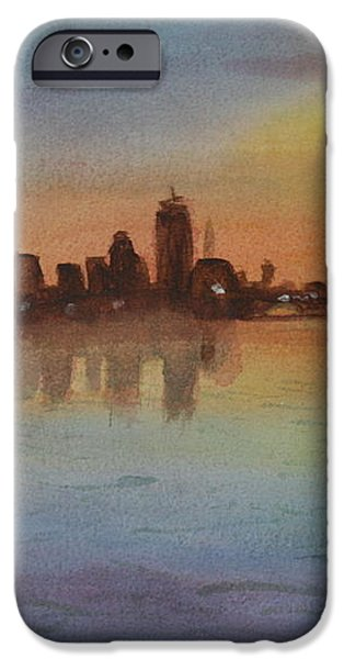 Boston Charles River at Sunset  iPhone Case by Donna Walsh
