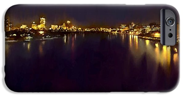 Charles River iPhone Cases - Boston Charles River Esplanade at Night iPhone Case by  Bob and Nadine Johnston
