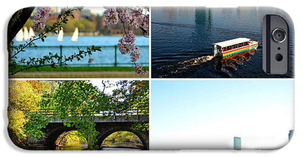 Oxford. Oxford Ma. Massachusetts iPhone Cases - Boston Charles River Four Seasons Collage iPhone Case by Toby McGuire