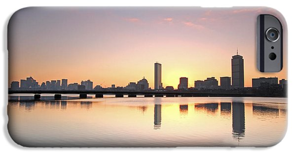 Charles River iPhone Cases - Boston Charles River Morning Bliss iPhone Case by Juergen Roth