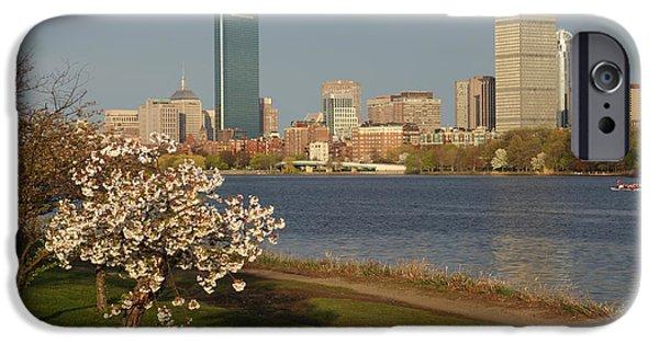 Charles River Digital Art iPhone Cases - Boston Charles River on a Spring day iPhone Case by Toby McGuire