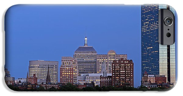 Charles River iPhone Cases - Boston Charles River Skyline iPhone Case by Juergen Roth