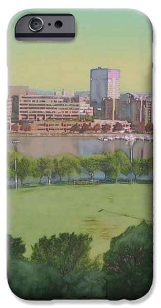 Boston Ma iPhone Cases - Boston Charles River View - Vertical iPhone Case by Lyn Voytershark