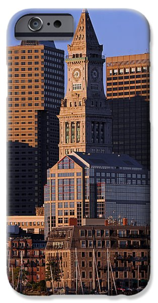 Custom House Tower iPhone Cases - Boston Clock Tower iPhone Case by Juergen Roth
