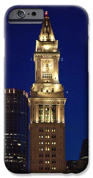 Boston Ma iPhone Cases - Boston Custom House iPhone Case by Joann Vitali