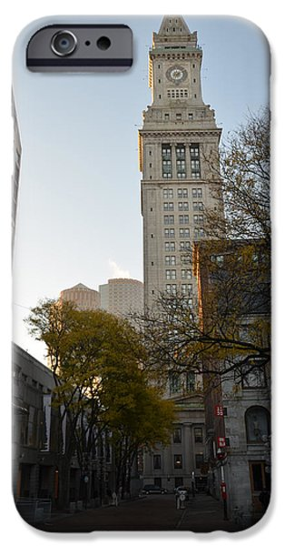 Oxford. Oxford Ma. Massachusetts iPhone Cases - Boston Custom House iPhone Case by Toby McGuire