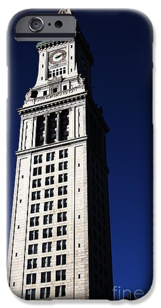 Boston Customs House iPhone Case by John Rizzuto