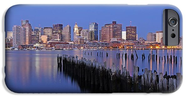 Custom House Tower iPhone Cases - Boston Downtown and Financial District iPhone Case by Juergen Roth