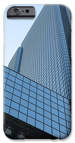 Exchange Place iPhone Cases - Boston Exchange Place I iPhone Case by Clarence Holmes